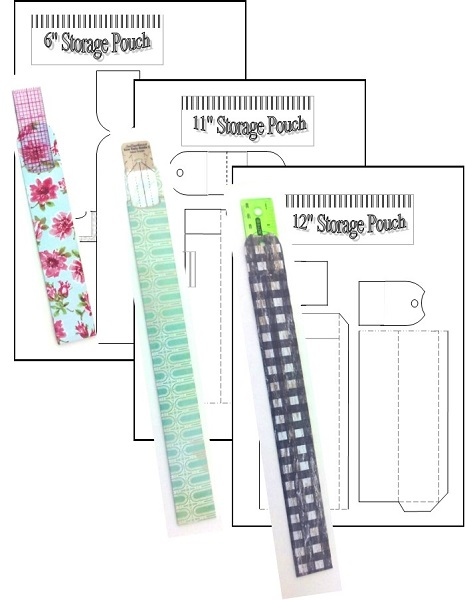 picture relating to Ruler Printable identified as Ruler Storage Pouches (Printable)