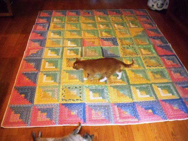 Love Quilt with Cats